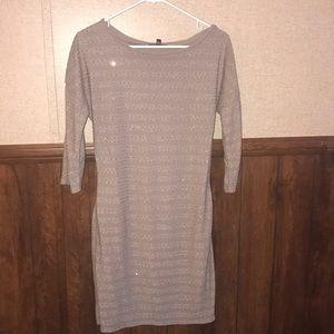 Express sweater/shirt dress with sequins!